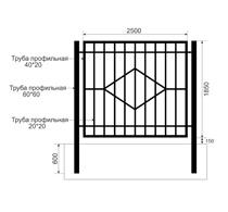 Забор из профильной трубы Арт. тп-10
