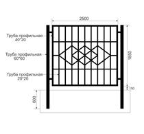 Забор из профильной трубы Арт. тп-11
