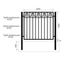 Забор из профильной трубы Арт. тп-13