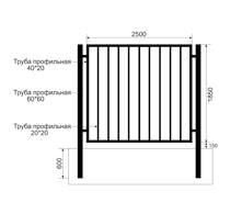 Забор из профильной трубы Арт. тп-5