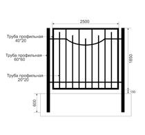 Забор из профильной трубы Арт. тп-7
