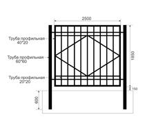 Забор из профильной трубы Арт. тп-8
