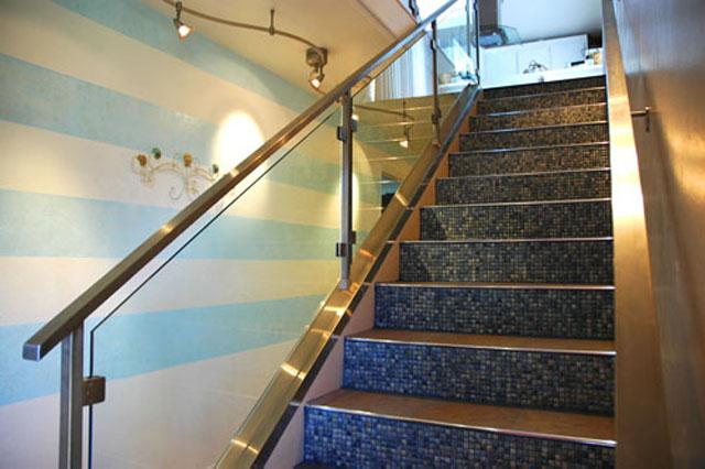 перила из нержавейки для лестницы