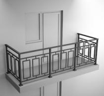 Балконные ограждения из профильной трубы Арт.обч-3