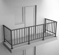 Балконные ограждения из профильной трубы Арт.обч-1
