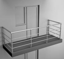 Балконные ограждения из нержавеющей стали Арт.нбо-1