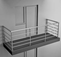 Балконные ограждения из нержавеющей стали Арт. нбо-2