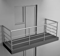 Балконные ограждения из нержавеющей стали Арт. нбо-3