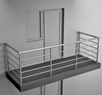 Балконные ограждения из нержавеющей стали Арт нбо-4