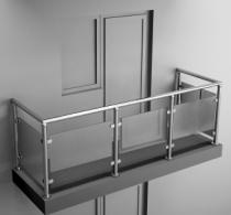 Балконные ограждения из нержавеющей стали Арт.нбо-7