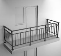 Балконные ограждения из профильной трубы Арт.обч-2