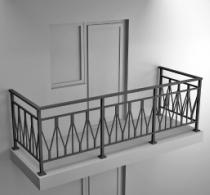 Балконные ограждения из профильной трубы Арт.обч-5