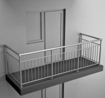Балконные ограждения из нержавеющей стали  Арт. нбо-6