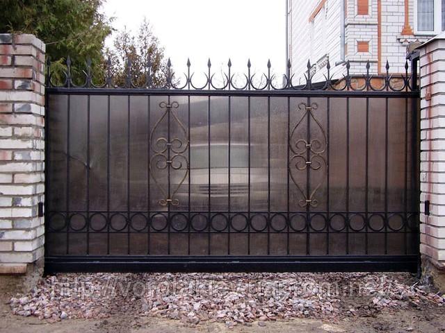 Ворота из чернового металла на заказ