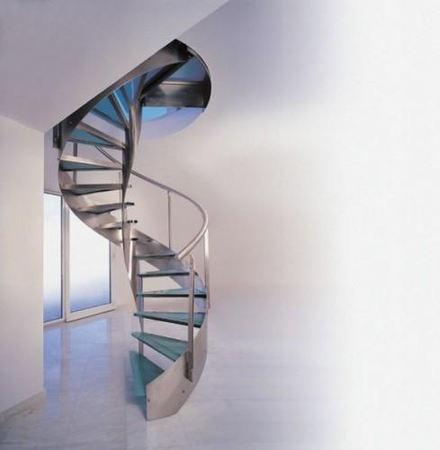винтовые лестницы из чернового металла