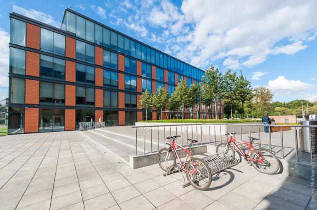 Какие элементы благоустройства должны быть возле здания офиса?